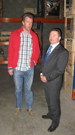Pan Lehman (vlevo) s Robertem Cavosem.